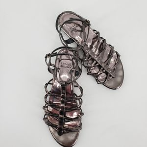 Stuart Weitzman Gunmetal Gladiator Sandals Size